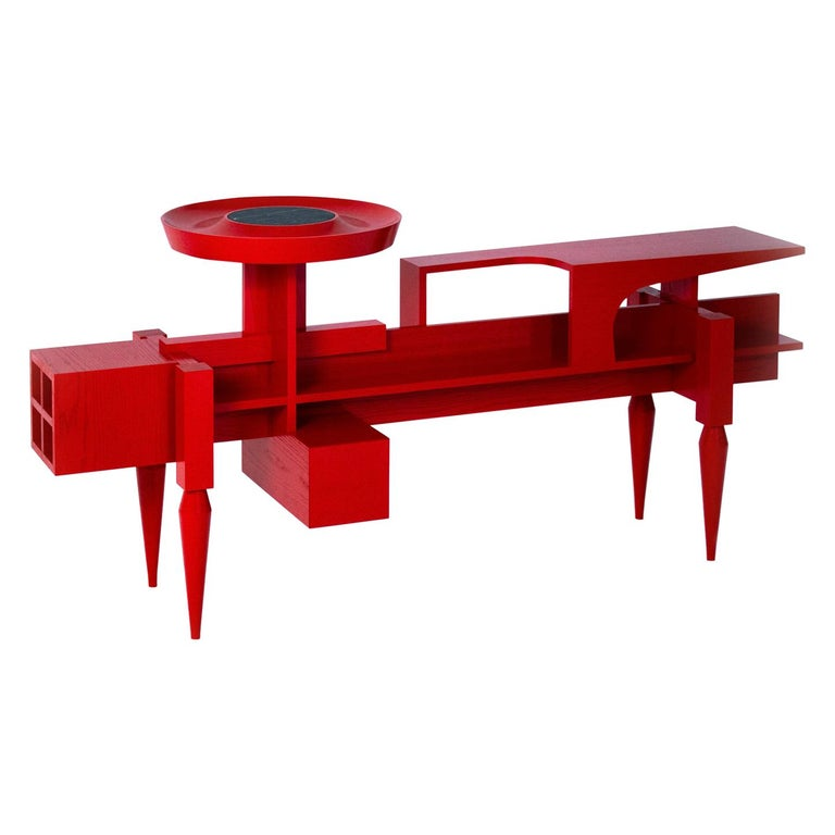 "Contemporary red Sideboard  or Console ""X"" by Studio1+11 , 21st Century, Germany For Sale"