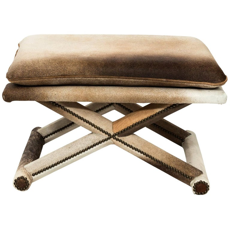Good Bench Form: X Form Hide Bench For Sale At 1stdibs