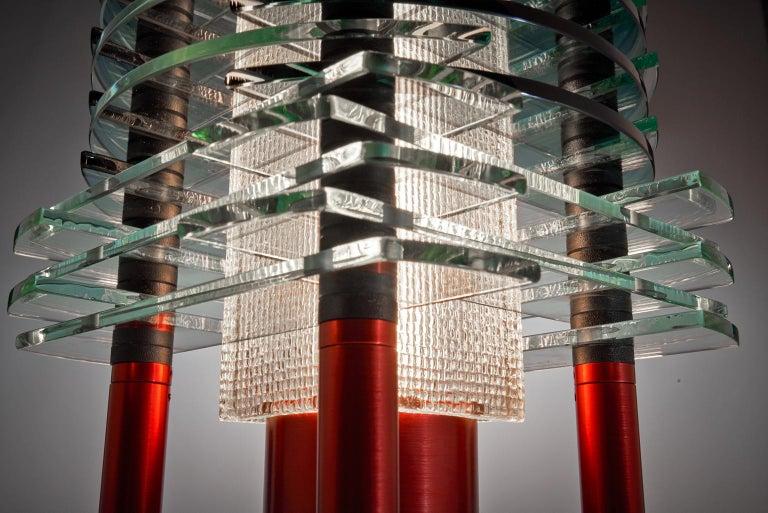 Tischleuchte aus Glas und Aluminium, F-Stop 4