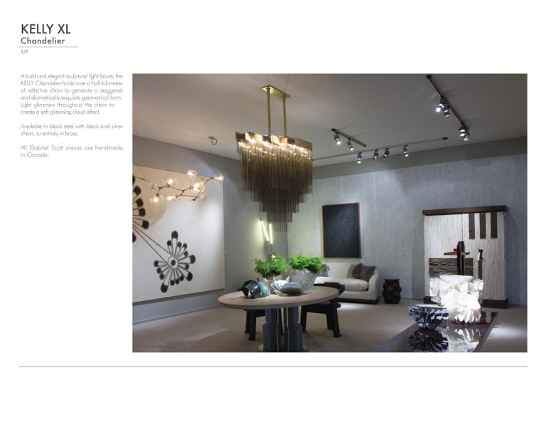 Contemporary X-Large Kelly Chandelier by Gabriel Scott For Sale