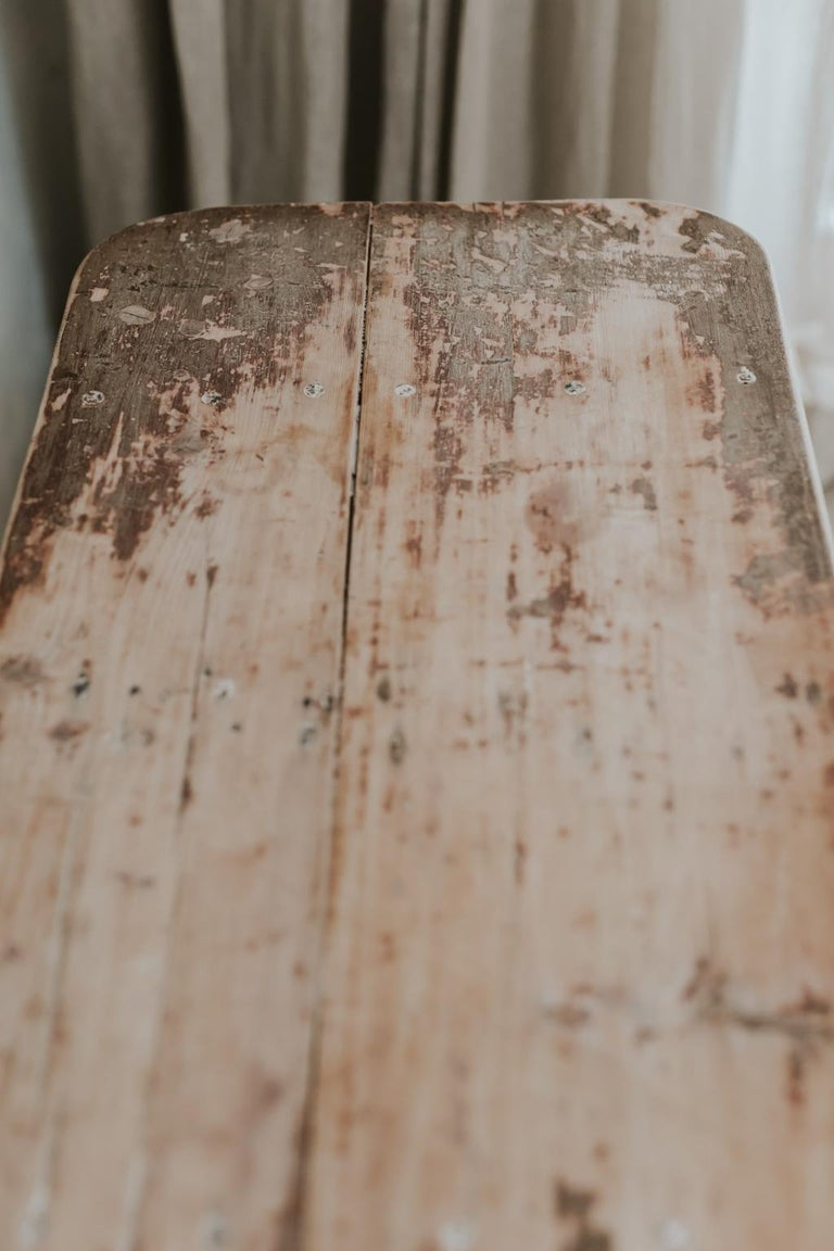 X-Legged Pine Table For Sale 2