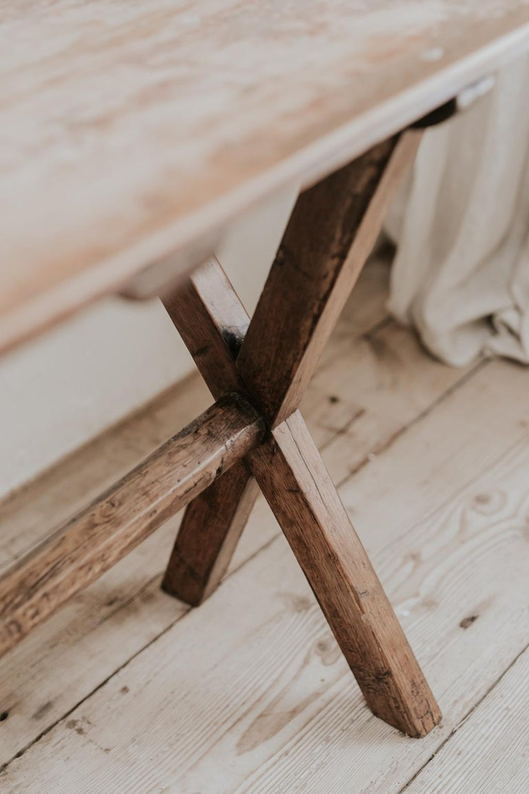 X-Legged Pine Table For Sale 4