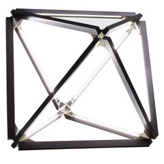 X-Light Table Ebonized Oak Brushed Brass
