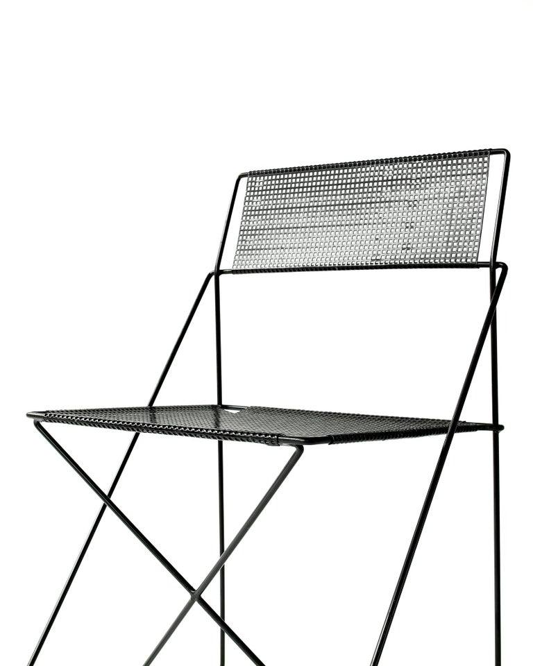 Post-Modern X Line Stacking Chair by Niels Jorgen Haugesen For Sale