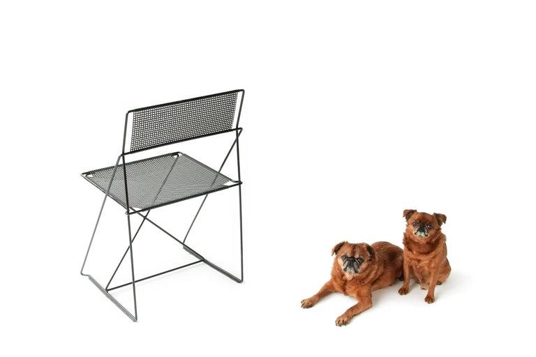 Italian X Line Stacking Chair by Niels Jorgen Haugesen For Sale