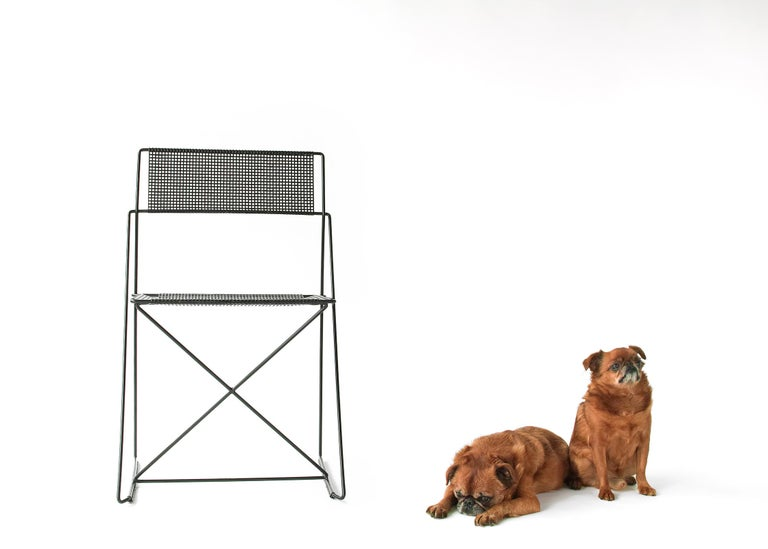X Line Stacking Chair by Niels Jorgen Haugesen In Good Condition For Sale In Brooklyn, NY