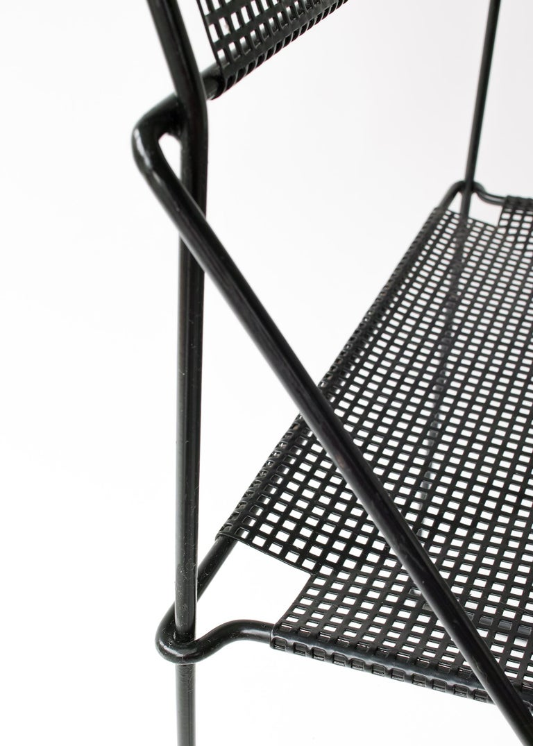 Late 20th Century X Line Stacking Chair by Niels Jorgen Haugesen For Sale