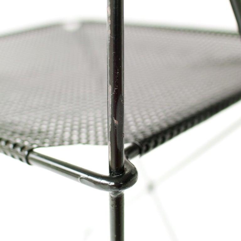 Metal X Line Stacking Chair by Niels Jorgen Haugesen For Sale