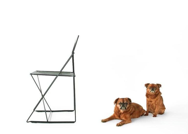 X Line Stacking Chair by Niels Jorgen Haugesen For Sale 2