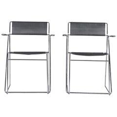 X Line Stacking Chairs by Niels Jørgen Haugesen for Hybodan, 1970s, Set of 2
