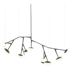 X-Long 13 Myriad Chandelier in Albaster White Glass by Gabriel Scott