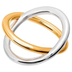 Silver & Gold Vermeil X Ring, sizes 55, 60, 65