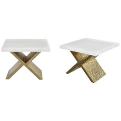 X-Rock Crystal Side Tables by Phoenix