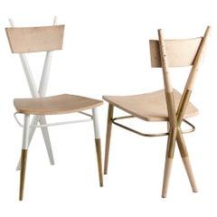 X Set of Wooden Chairs by Sema Topaloglu
