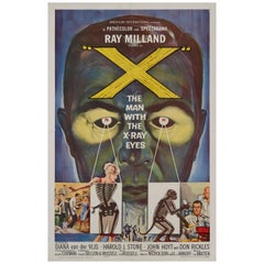 'X: The Man With The X-Ray Eyes' Original Vintage US Film Poster, 1963