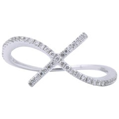 """X"" with a Twist Diamond Ring"