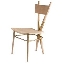 X Wooden Chair by Sema Topaloglu