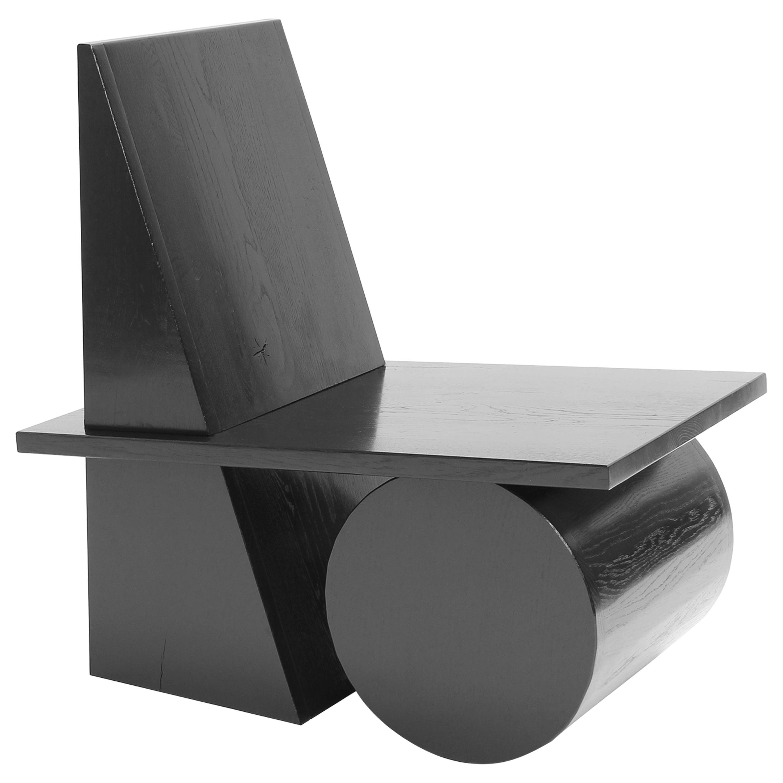 X4 Chair Contemporary Chair in Oak by Studio Verbaan