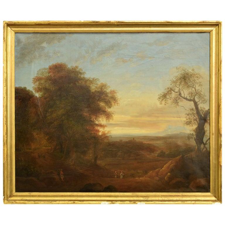 """Xalapa Landscape"", Mexico, Oil on Canvas, Spanish School, circa 1840 For Sale"