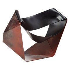 Xandre Kriel, Techno Loafer, Waxed Steel and Conveyor Belt Chair