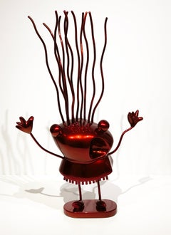 Xavi Carbonell, Le Petite Folle, 2019, Hi-Gloss Red Painted Sculpture