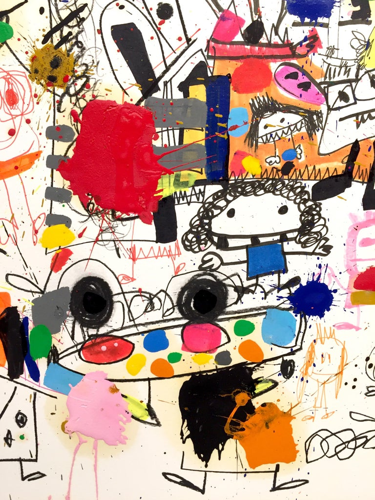 Xavi Carbonell, Untitled mixed media on paper, 2018 - Contemporary Painting by Xavi Carbonell