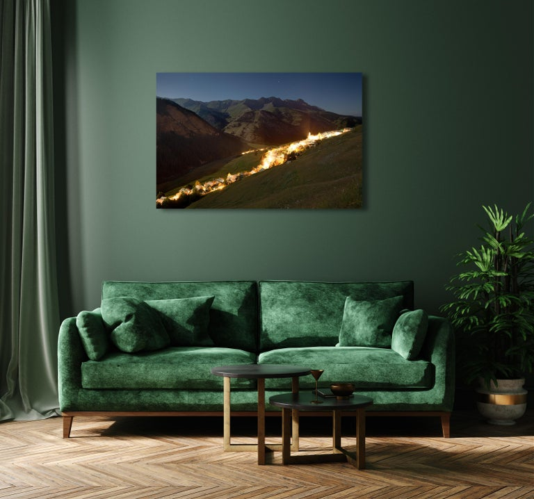 Fault by Xavier Dumoulin - Night Photography, Landscape, Mountain For Sale 2