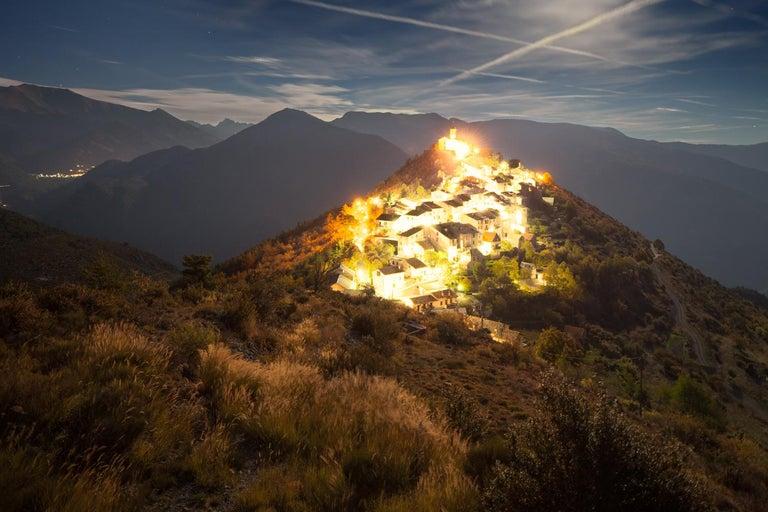 Xavier Dumoulin Landscape Photograph - Hill, Incandescences series