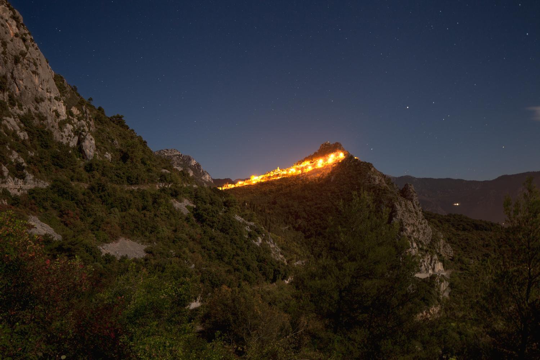 Ridge, Incandescences by X. Dumoulin - Night Photography, landscape, mountains