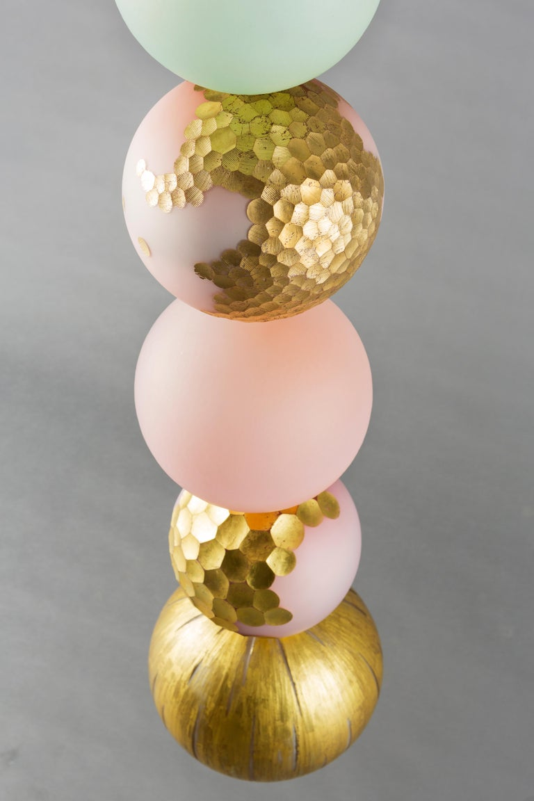 Xavier Le Normand 2018, Unique Gold Chandelier, Blow Glass In New Condition For Sale In Paris, FR
