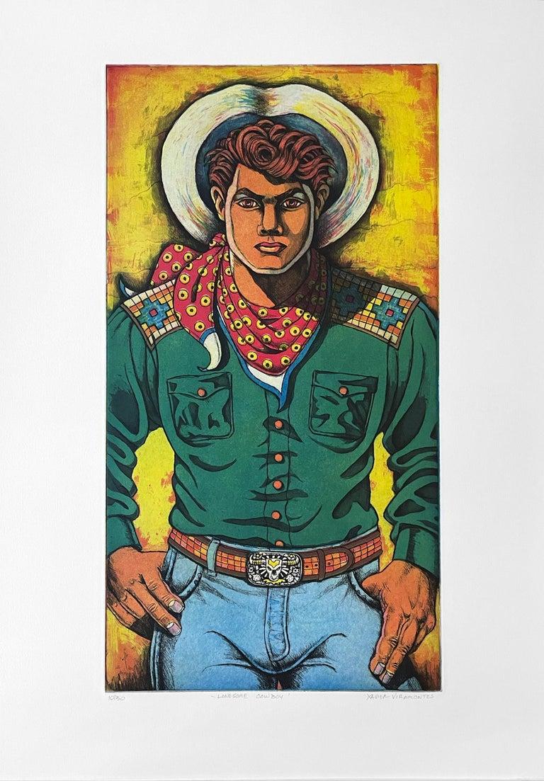 Lonesome Cowboy - Print by Xavier Viramontes