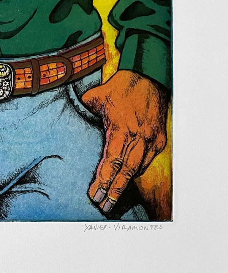 Lonesome Cowboy - Contemporary Print by Xavier Viramontes