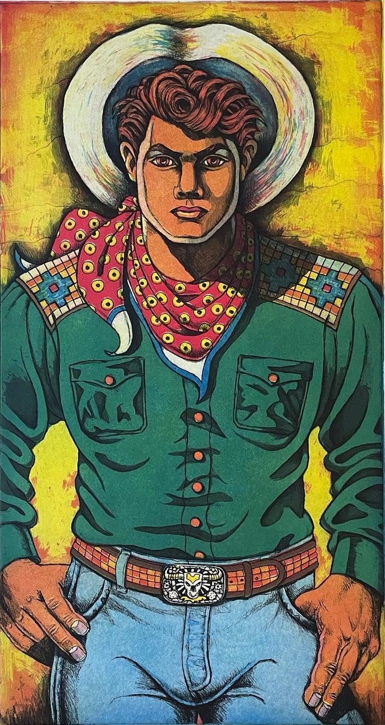 Xavier Viramontes Portrait Print - Lonesome Cowboy