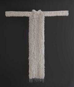 """Untitled (Vestido Blanco/White Dress)"" terracotta dress form sculpture"