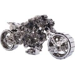 """Mechanic Trooper - The Pulse"", Mechanical Mid Size Bike, Modern Pop Art"