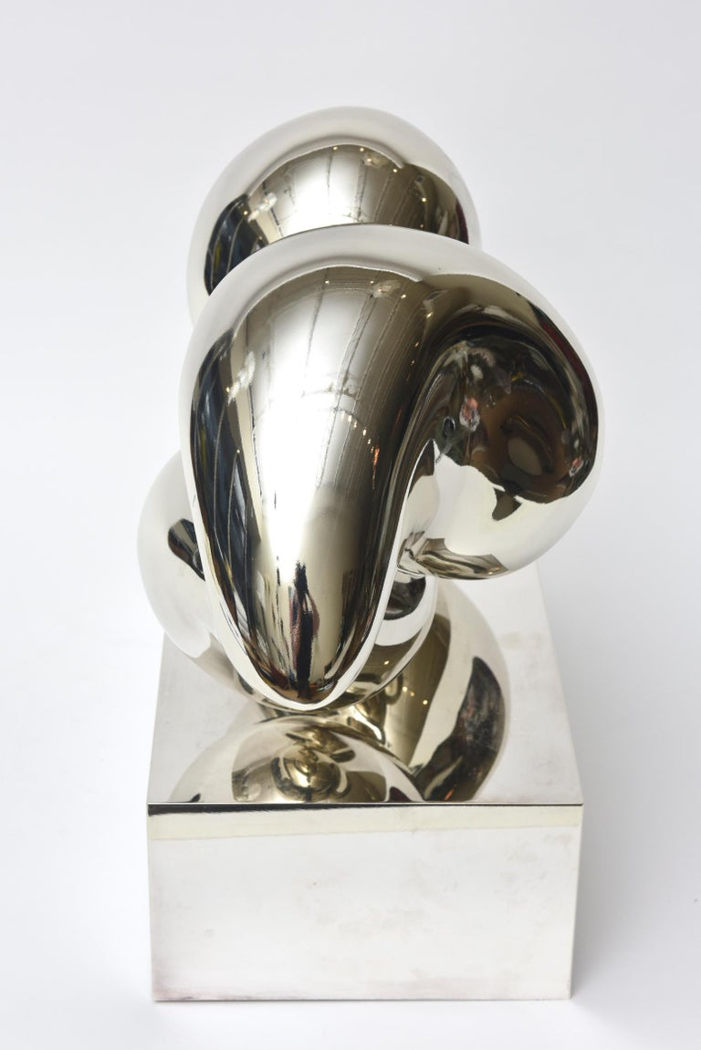 French Xiao Hui Wang for Christofle Love Lip Silvered Bronze Sculpture Limited Edition For Sale