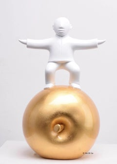 Sculpture by noted Chinese artist Xie Ai Ge - Golden Apple series