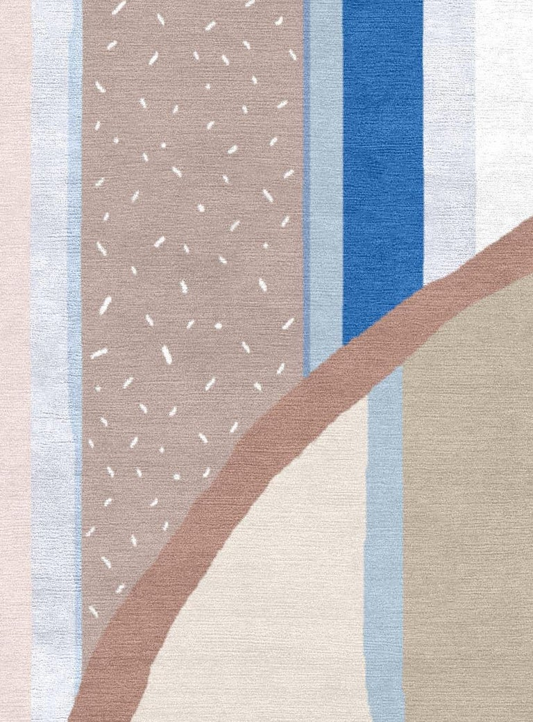 Xi I Hand Knotted Wool And Silk 8x10 Rug For Sale At 1stdibs