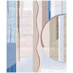 Composition XI.I - Multicolor Luxury Hand Knotted Wool Silk Rug