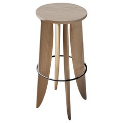 XIII, White Oak Counter Stool from Collection Noviembre by Joel Escalona