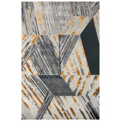 Xisto Area Rug in Shale Gray Hand-Tufted Wool and Botanical Silk by Rug'Society