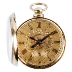 XIX Century Open-Face Brittish Gold Pocket Watch F. Brooman