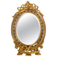 XIXth Century Bronze Table Mirror