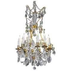 19th Century Crystal Chandelier, Gilt Bronze, Napoleon III Period