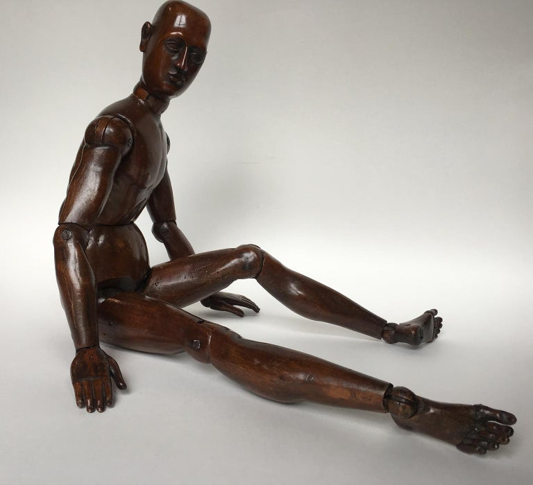19th Century French or Italian Wood Mannequin, circa 1850 For Sale 5