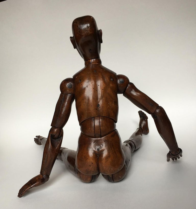19th Century French or Italian Wood Mannequin, circa 1850 For Sale 6