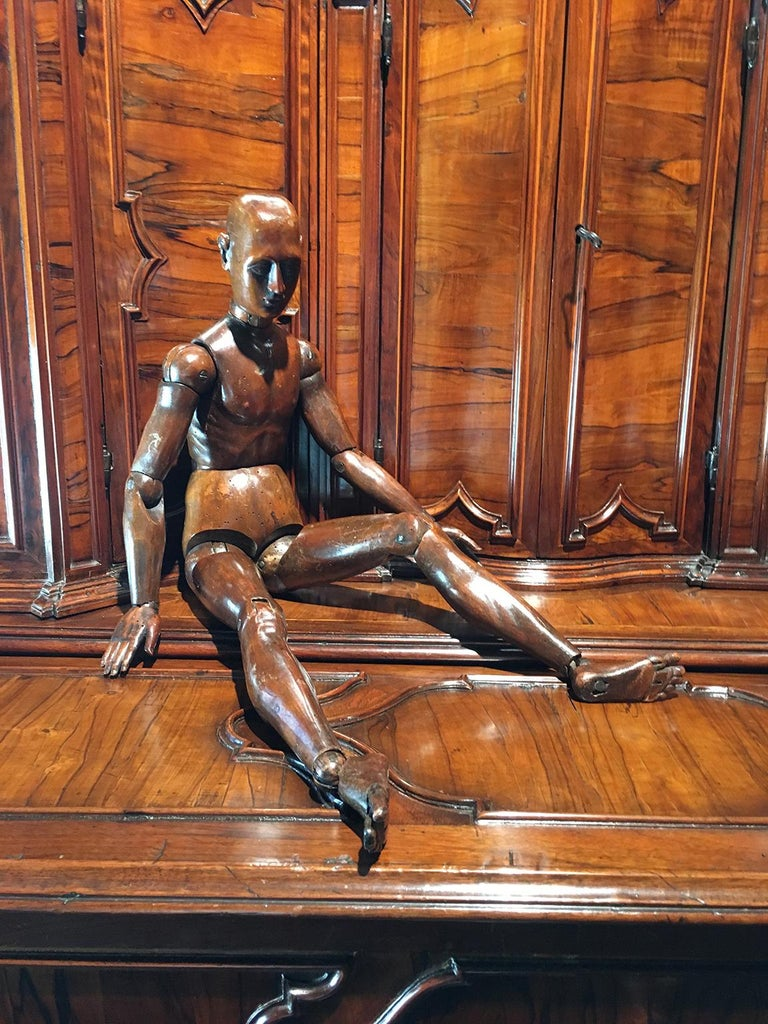 19th Century French or Italian Wood Mannequin, circa 1850 For Sale 8