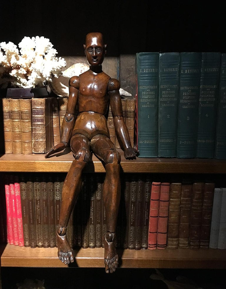 19th Century French or Italian Wood Mannequin, circa 1850 For Sale 10
