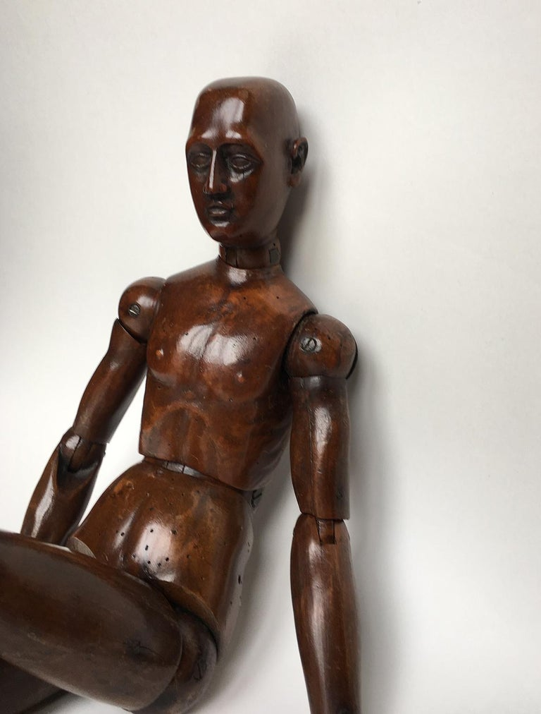 Other 19th Century French or Italian Wood Mannequin, circa 1850 For Sale