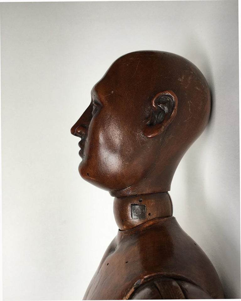 Carved 19th Century French or Italian Wood Mannequin, circa 1850 For Sale